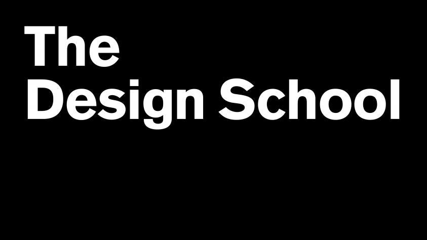 The design school white text on black